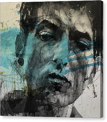 Dylan - Retro  Maggies Farm No More Canvas Print by Paul Lovering