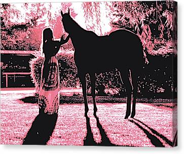 Dylly And Lizzy Pink Canvas Print