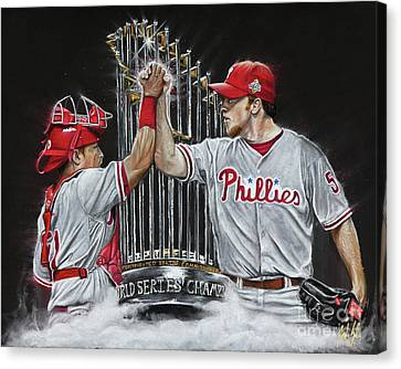 2008 World Champions Canvas Print - Dynamic Duo by Jordan Spector