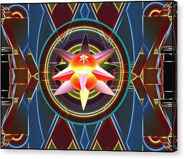 Dynamic Star Spinner Canvas Print by Mario Carini