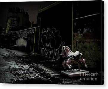 Dystopian Playground 1 Canvas Print by James Aiken