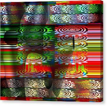 Dzine The Fredoom To Be Canvas Print by Fania Simon