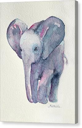 E Is For Elephant Canvas Print by Richelle Siska