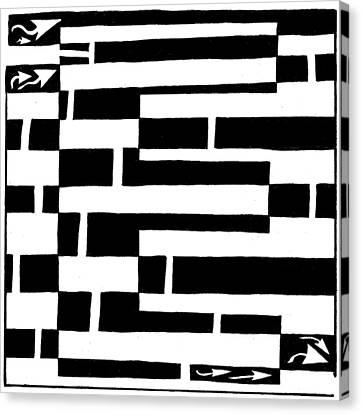 E Maze Canvas Print by Yonatan Frimer Maze Artist