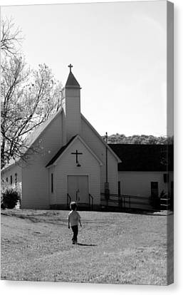 E-to-the-church Canvas Print by Curtis J Neeley Jr
