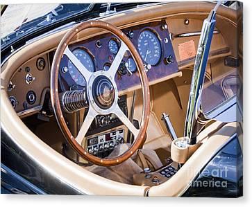 E-type Jaguar Dashboard Canvas Print
