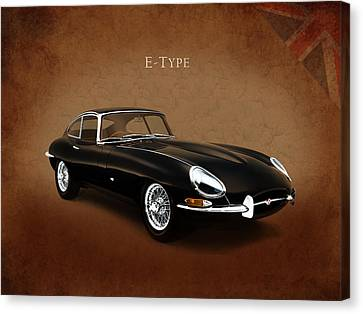 E Type Jaguar Canvas Print by Mark Rogan