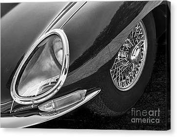 Canvas Print featuring the photograph E-type Monotone by Dennis Hedberg