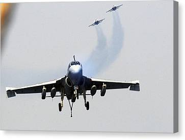 F-18 Canvas Print - Ea-6b Prowler Us Navy by Celestial Images