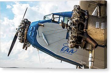 Eaa Ford Trimotor Aircraft Canvas Print