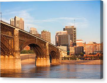 Eads Bridge At St Louis Canvas Print by Semmick Photo