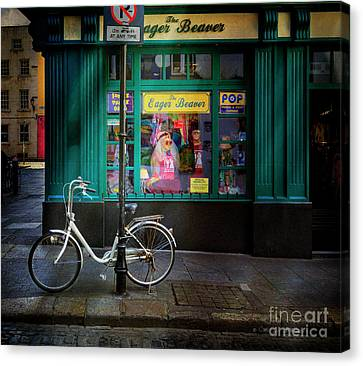 Canvas Print featuring the photograph Eager Beaver Bicycle by Craig J Satterlee