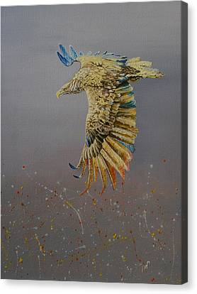 Eagle-abstract Canvas Print