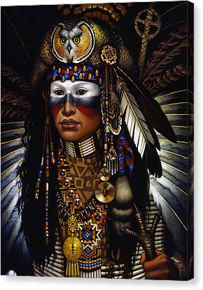 Face Canvas Print - Eagle Claw by Jane Whiting Chrzanoska