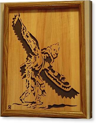 Eagle Dancer Canvas Print by Russell Ellingsworth