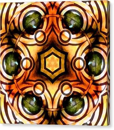 Canvas Print featuring the digital art Eagle Eye Ray by Derek Gedney
