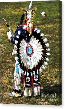 Crazy Horse Canvas Print - Eagle Feathers by Chris Brewington Photography LLC