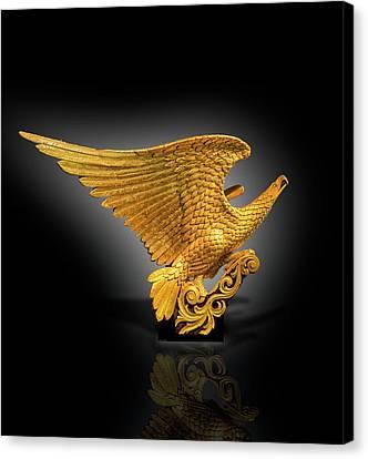 Eagle Figure Head  Canvas Print by Gary Warnimont