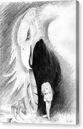 Eagle Guardian Canvas Print by Sean Seal
