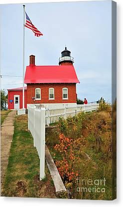 Eagle Harbor Lighthouse Canvas Print by Terri Gostola