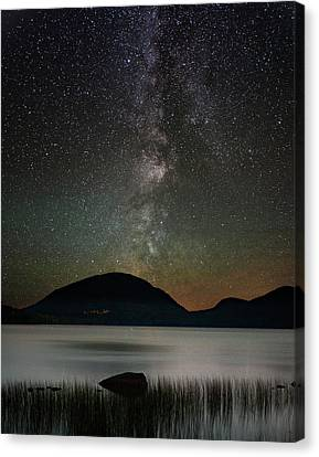 Eagle Lake And The Milky Way Canvas Print by Brent L Ander