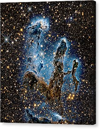 Eagle Nebula Pillars Of Creation - Infrared Canvas Print by Weston Westmoreland