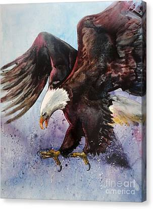 Eagle Of Light Canvas Print
