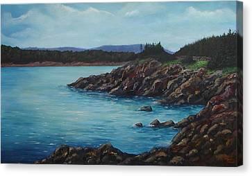 Eagle Point Cape Breton Island Nova Scotia Canvas Print by Sharon Steinhaus