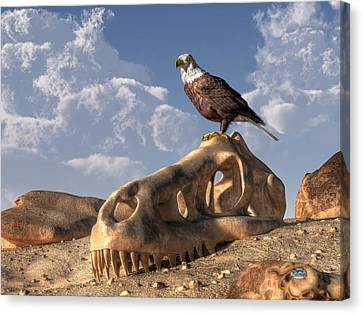 Eagle Rex Canvas Print by Daniel Eskridge