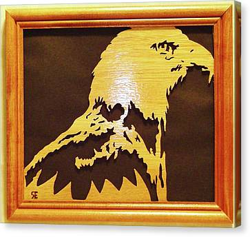 Eagle Canvas Print by Russell Ellingsworth