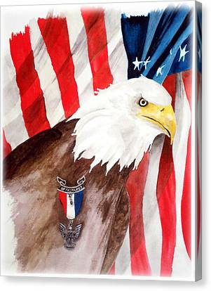 Eagle Scout Canvas Print by Rosalea Greenwood