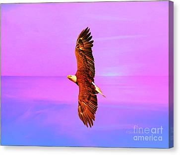 Canvas Print featuring the painting Eagle Series Painterly by Deborah Benoit