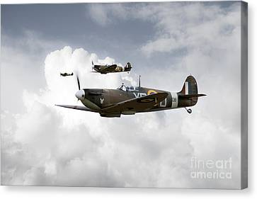 Eagle Squadron Canvas Print by J Biggadike
