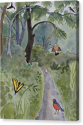 Eagle Trail Canvas Print by Alexandra Schaefers
