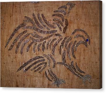 Eagle Tribal Of Agar Wood Canvas Print by Joedhi