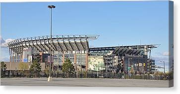 Eagles Football Stadium - The Linc Canvas Print by Bill Cannon