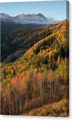 Canvas Print featuring the photograph Eagle's Nest Peak Vertical by Aaron Spong