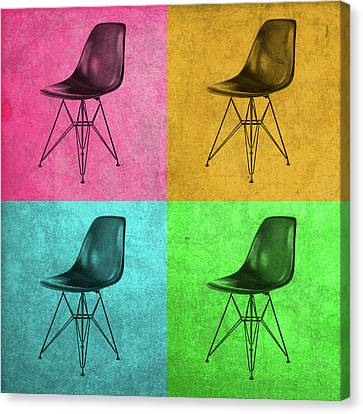 Eames Chair Vintage Pop Art Canvas Print