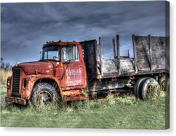 Canvas Print featuring the photograph Earl Latsha Lumber Company Version 2  by Shelley Neff