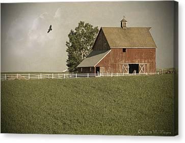 Early Am Barn Canvas Print