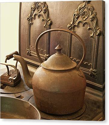 Early American Tea Pot Canvas Print by Michael Peychich