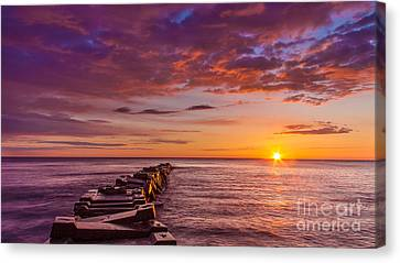 Early Atwater Burst Canvas Print by Andrew Slater