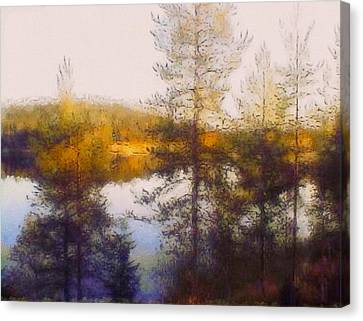 Autumn Scene Canvas Print - Early Autumn In Finland by Susan Maxwell Schmidt