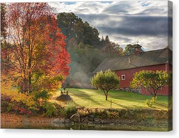 Early Autumn Morning Canvas Print by Bill Wakeley