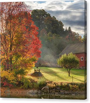 Early Autumn Morning Square Canvas Print by Bill Wakeley