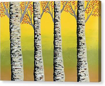 Sun Rays Canvas Print - Early Autumn by Sumit Mehndiratta