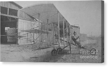 Early Aviation Canvas Print by Gwyn Newcombe
