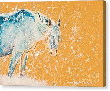 Crazy Horse Canvas Print - Early Blizzard by Joni Beinborn