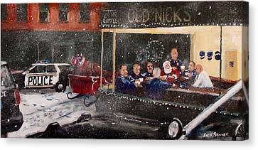 Early Christmas Morning Coffee Canvas Print