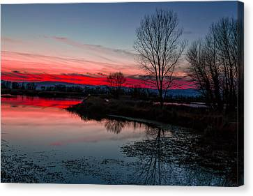 Kathleen Canvas Print - Early Dawn On The Water by Kathleen Bishop